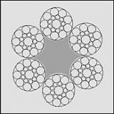 Linystalowe,dźwigowe6x19S-SFC(DRULIFT6/19)