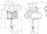 WciągnikiłańcuchoweCPVVTG-przejezdnezwózkiemnapędzanymręcznie-układ1/1