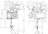 WciągnikiłańcuchoweCPVVTE-przejezdnezjednobiegowymwózkiemnapędzanymelektrycznie-układ1/1