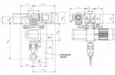 WciągnikiłańcuchoweCPEVTE-przejezdnezjednobiegowymwózkiemnapędzanymelektrycznie-układ2/1