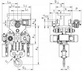 WciągnikiłańcuchoweCPEVTE-przejezdnezjednobiegowymwózkiemnapędzanymelektrycznie-1układ4/1